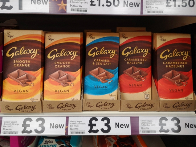 galaxy vegan chocolate in tesco